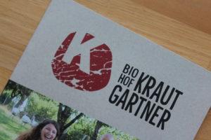 Folder & Web Biohof Krautgartner
